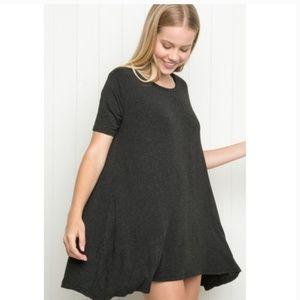 Brandy Melville Charcoal Aneita Dress